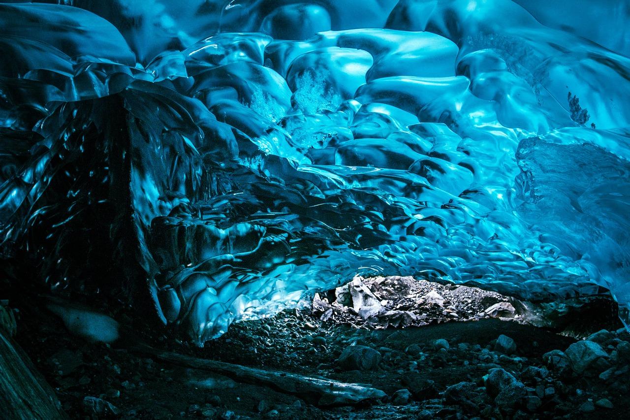 冰, 冻结, 水, 发光, 冰川, 岩, 蓝色, 自然