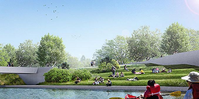 """TOPOTEK 1's winning design of the Bremen waterfront """"Stadtstrecke"""" March 16, 2017,AEDT"""