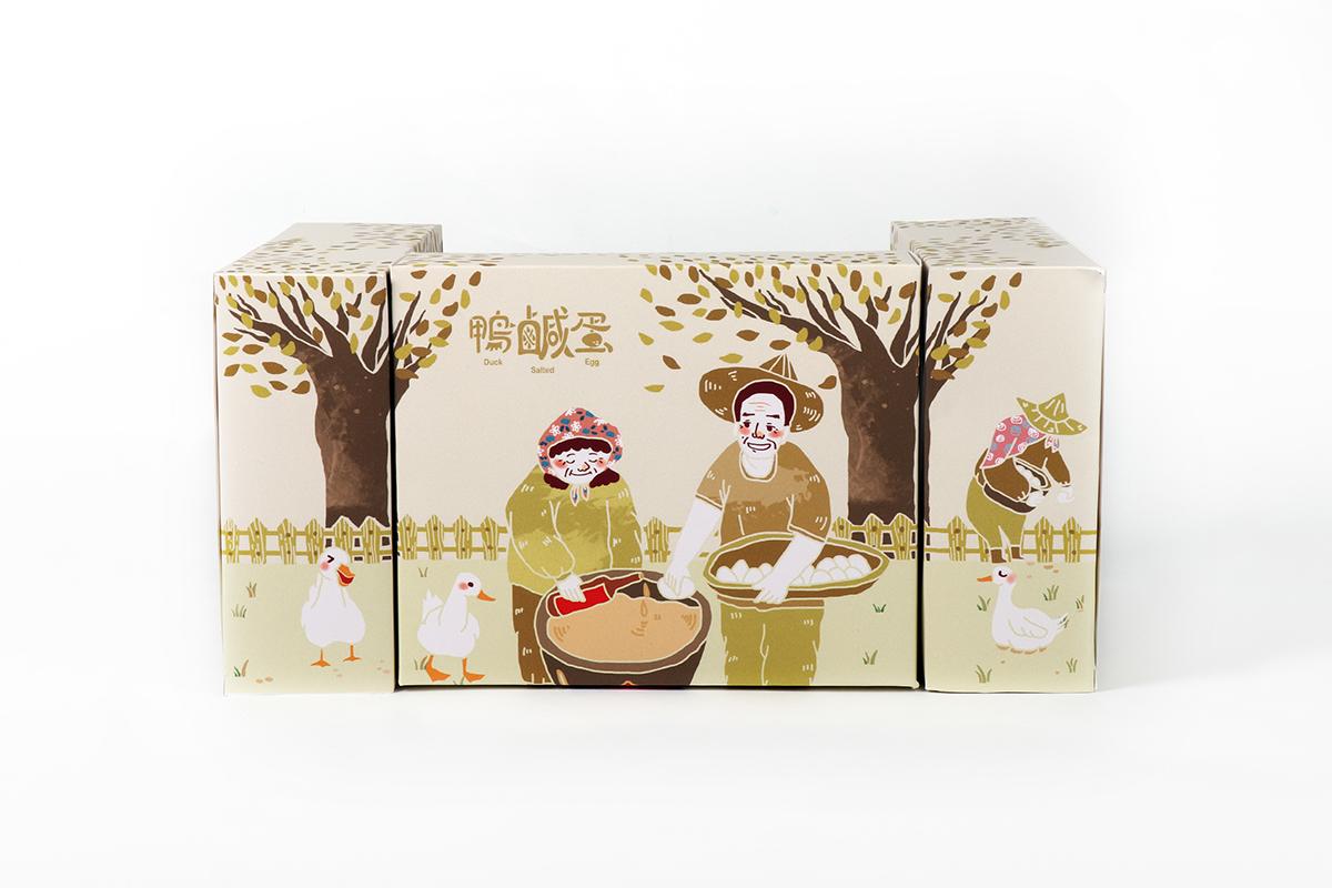 鴨蛋農場 Duck Egg Farm  包裝設計 Food Packaging