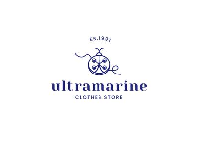 Ultramarine, clothes store logo