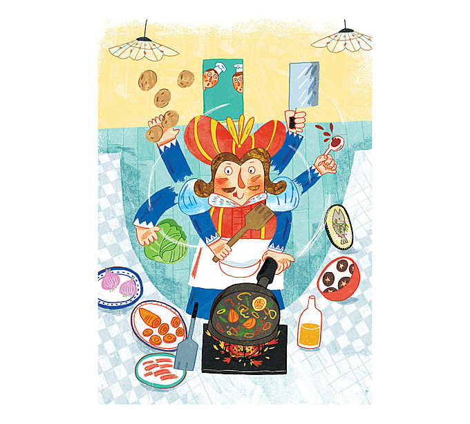 Illustration for Children 's Book-怪国王