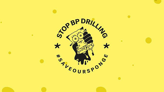 Don't Panic's campaign for Greenpeace enlists Spongebob Squarepants as an eco activist