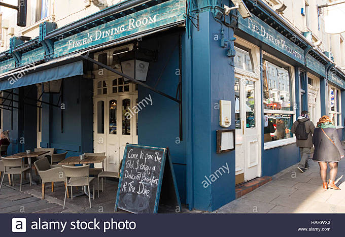 London, England-November 13,2016 : The dining room Duke of Wellington  located in Notting hill district, on Portobello - Stock Image