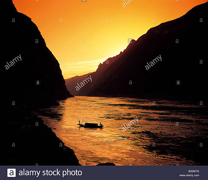 River Yangtze,Three Gorges - Stock Image