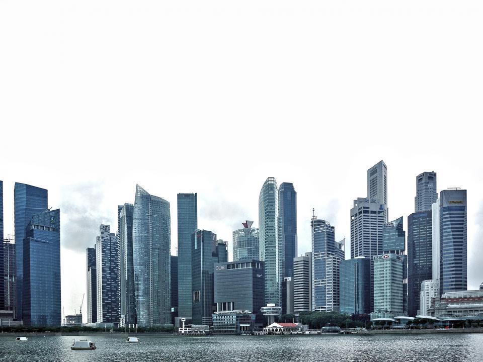 architecture, building, infrastructure, skyline, tower, city, urban, sea, water, skyscraper
