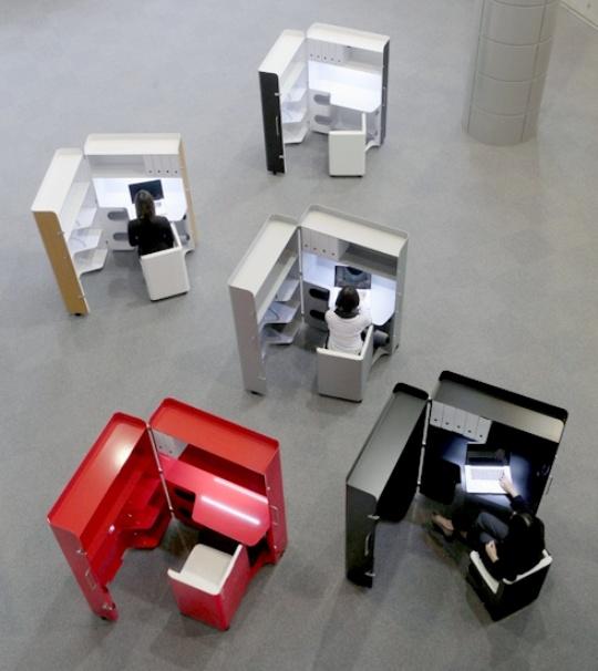 Foldaway Office Furniture From Kenchikukagu