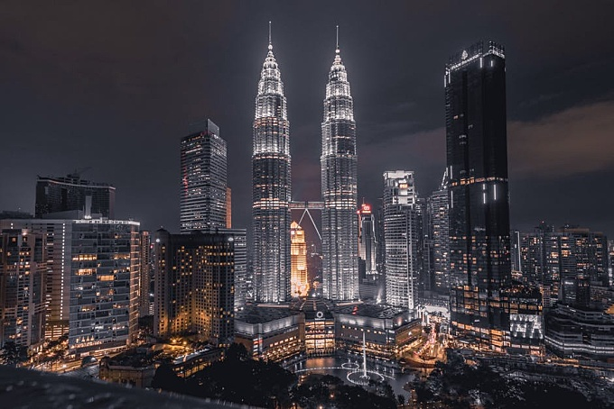 Scenic View Of City During Evening