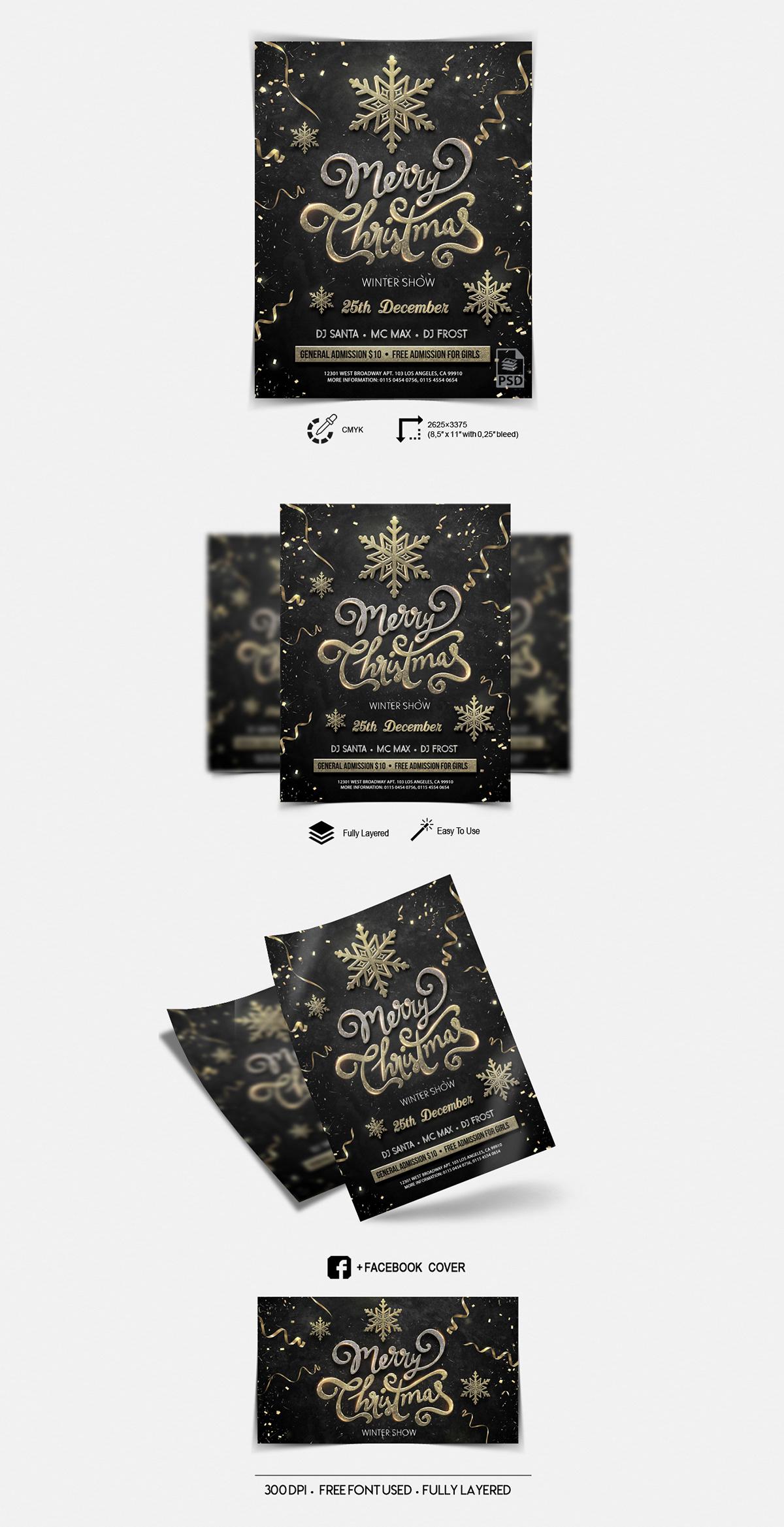Merry Christmas - PSD Flyer Template