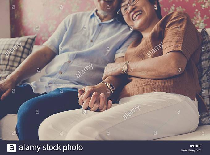 Family Bonding Casual Affection Relationship - Stock Image