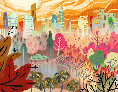 Background Painting - The Long Goodbye, Theater