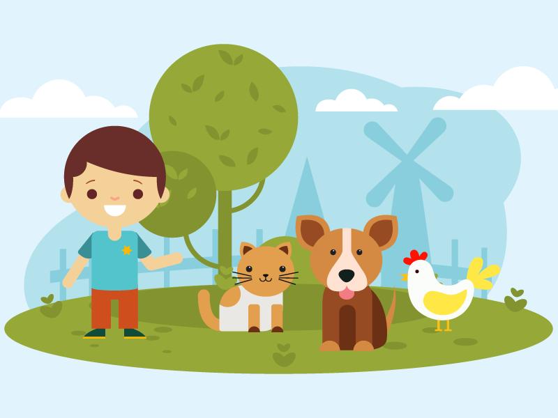 Illustration   children's song 04