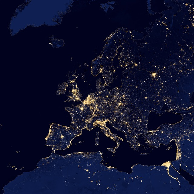 europe, cities, lights
