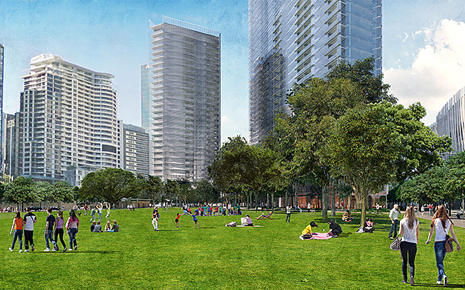 Grant Associates' reveals designs for two-hectares of public realm at Barangaroo South May 1, 2017,AEDT