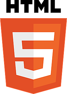 HTML5 with wordmark color Logo