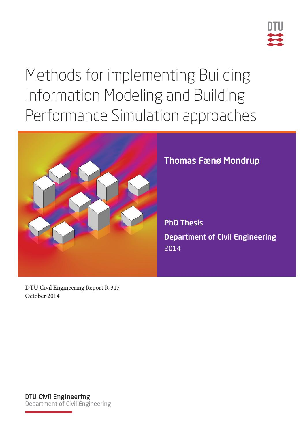Methods for implementing BIM and BPS approaches