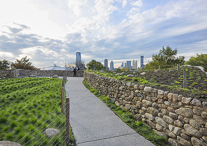 Renovation of the Irish Hunger Memorial complete March 15, 2018,AEDT