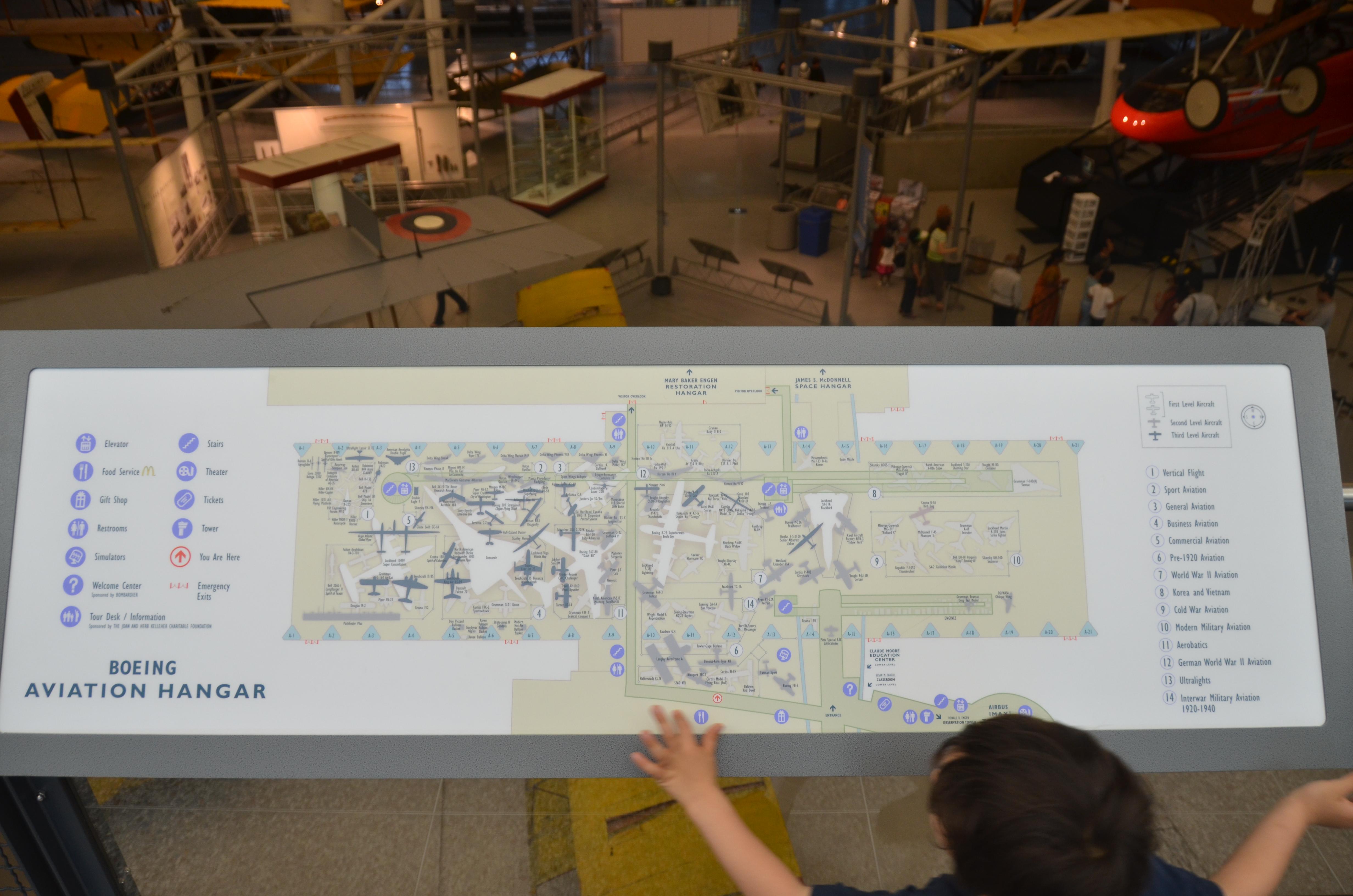 Steven F. Udvar-Hazy Center: map of the museum