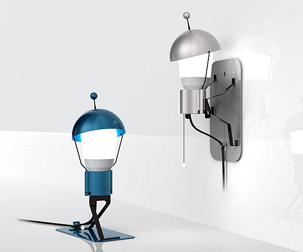 Playful and Cute Mr. StickMan Lamp Turns Into a Little Character in The Room