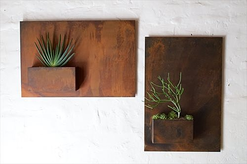 Rusty, Modern Wall Planter - Landscaping Network