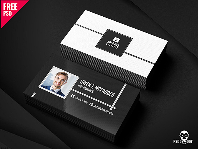 Download Business Name Card Free PSD. New in a business leave an impression in your very first meeting. This business card template will surely help your business to take off and become a successful venture. It is in monochrome style which makes it elegant and classy. Business Name Card Free gives you the space to add your own minute details. It comes with the benefit of customization which gives you an option to make changes as per your taste. This printable Business Name Card Free comes in 300 dpi CMYK format. Visit our website for download free premium photoshop resources. Press