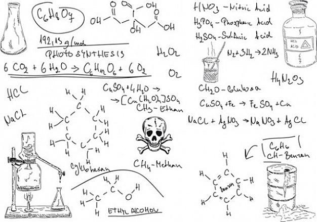 biology background chemical formulas