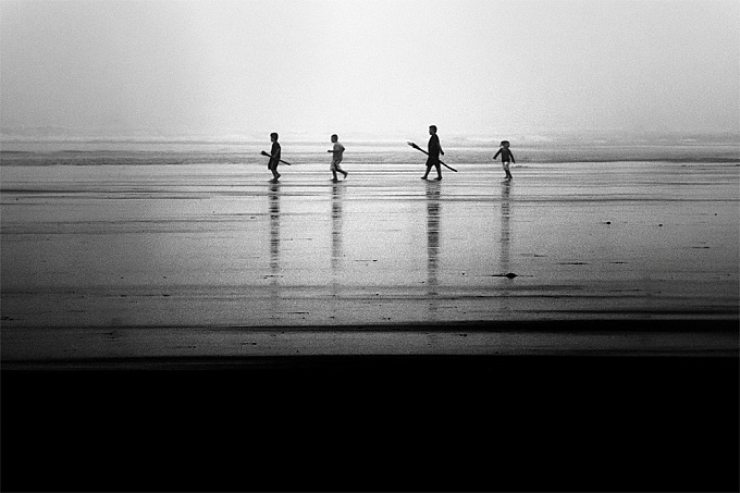 Photographer Nicolas Bouvier Shoots Figures in Silhouette Against Mysterious and Foreboding Landscapes