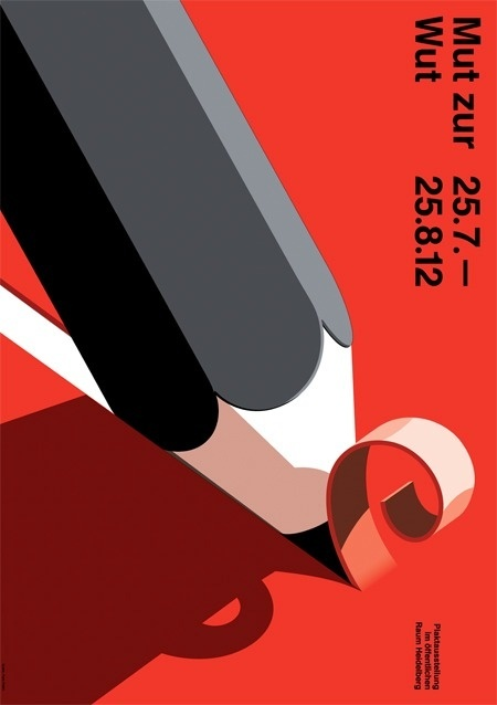 poster #illustration #pencil #red #poster