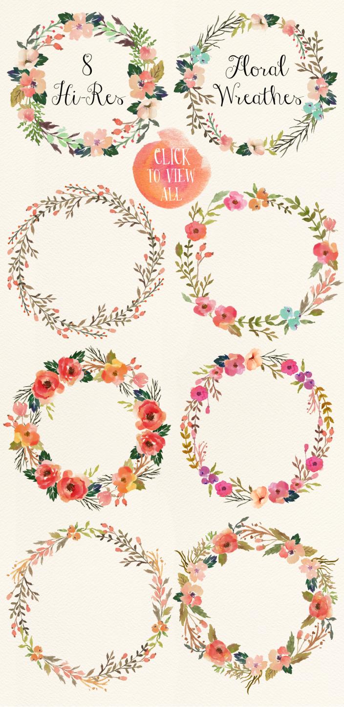 Watercolor flower DIY pack Vol.3 - Illus 1
