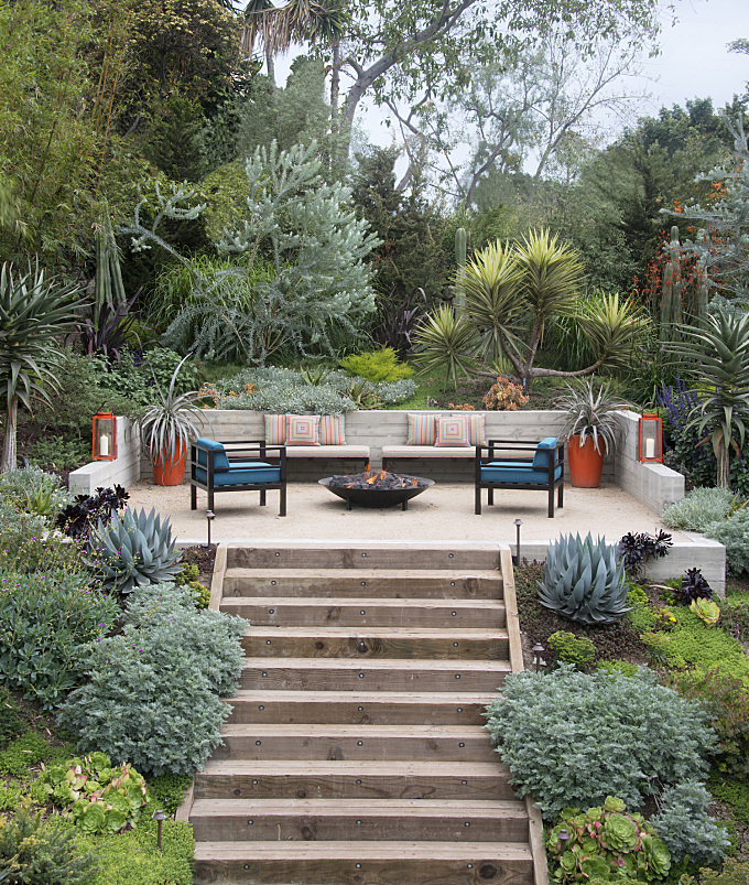 Landscape Design: 10 Tips for Adding a Fire Pit, from Judy Kameon