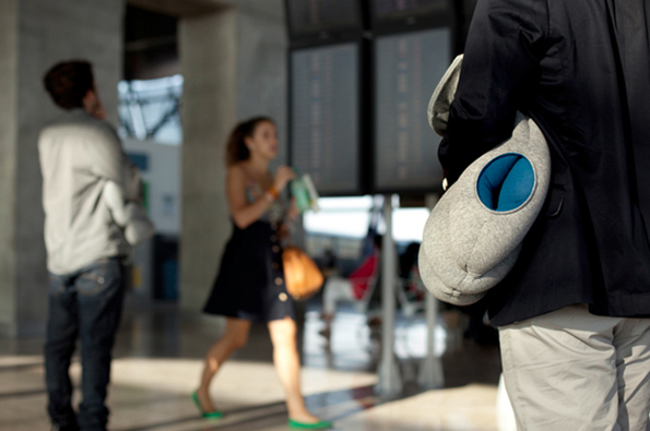 Fall asleep anywhere thanks to Kawamura-Ganjavian's amazing Ostrich Pillow
