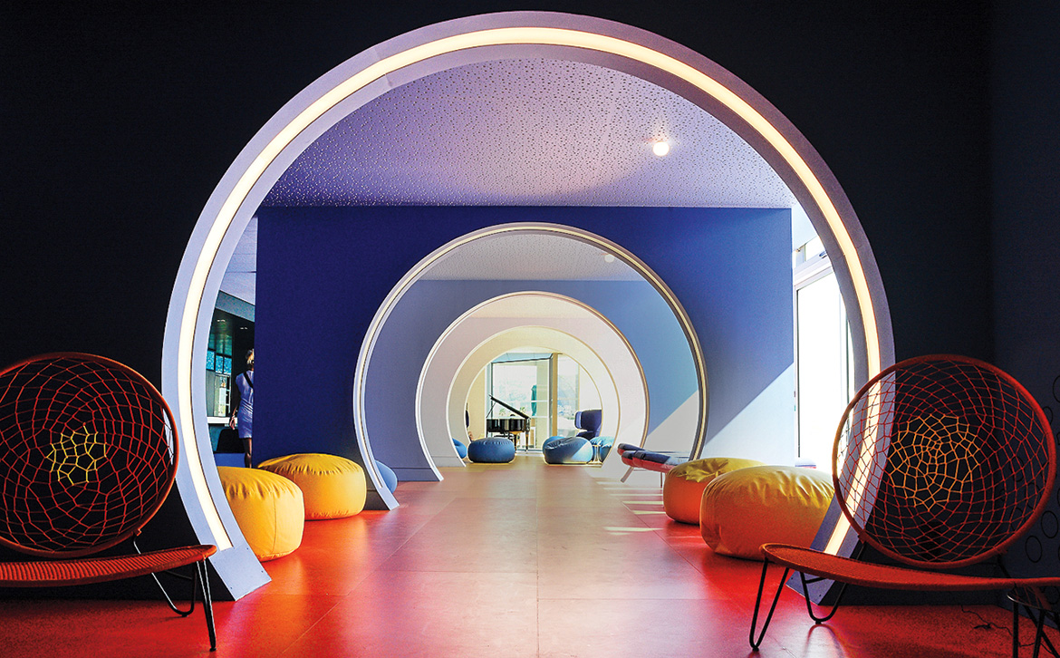 Color Reigns Supreme at Teresa Sapey's Tunnel Lounge for the Nhow Marseille