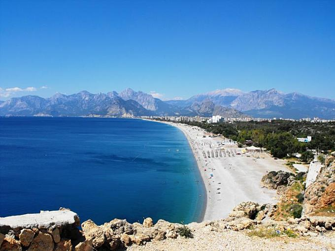 One of the great beaches of Antalya