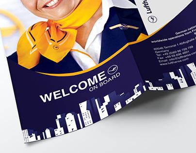 Lufthansa Airline Trifold Brochure