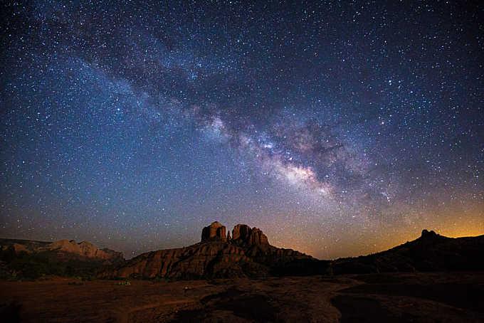 Moonlight and Milky Way