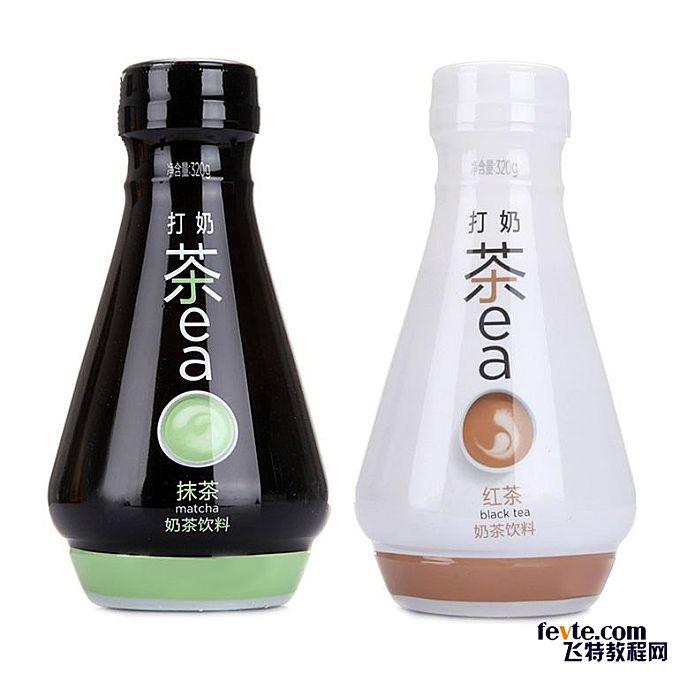 简洁奶茶包装设计 - 饮品/酒包装 - 飞特(FEVTE)