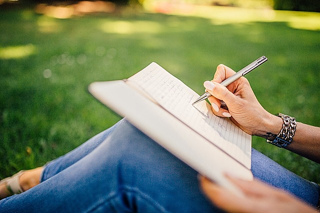 writing writer notes pen notebook book girl woman people hands grass outdoors writer writer writer writer writer
