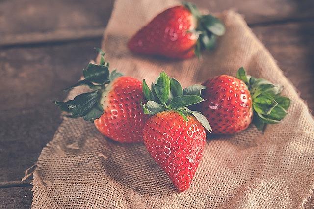 strawberries, fruit, ripe