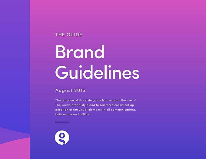 The Guide Brand Guidelines - Content + Design by Mariana Aspru