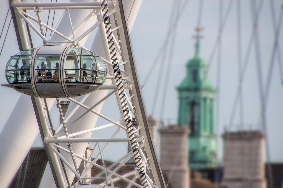 伦敦, 英国, 伦敦眼, 天空, Toruristik