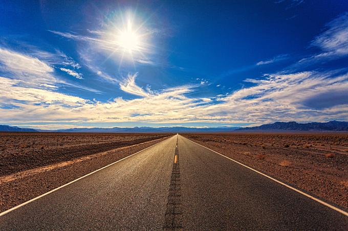 lonely,  road,  desert,  sand,  rocs,  dirt,  nature,  concrete,  asphalt,  blue sky,  clouds,  travel