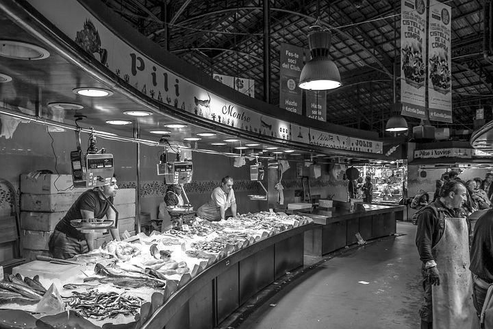 鱼市场, 海鲜, 鱼, 所谓的洛城