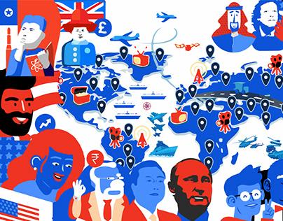 Facebook Cover Illustration Design for News & Media