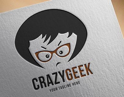 Crazy Geek Logo Template