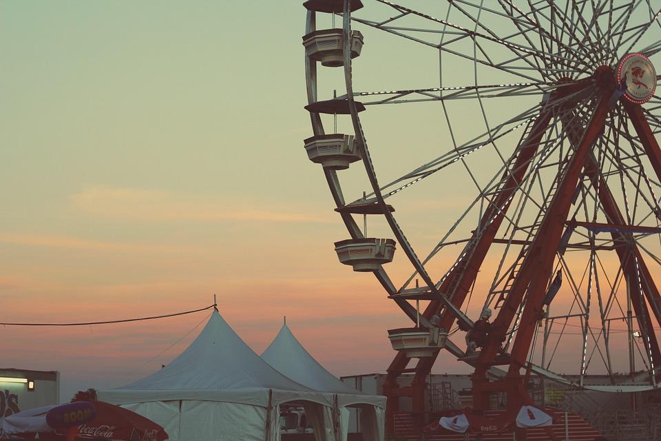 乐趣, 公园, 摩天轮, 幸福, 自然, 快乐, 人, 夏天, 开朗