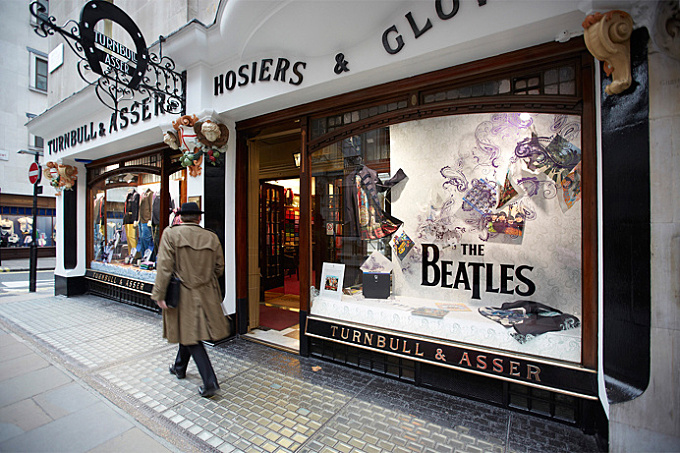 Turnbull & Asser Beatles window display design