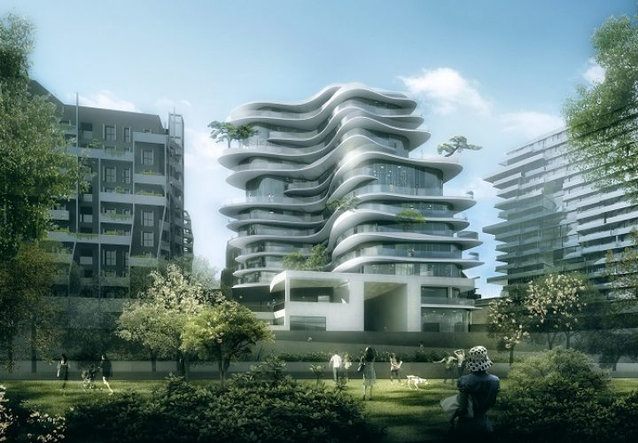 """The renowned Chinese architectural office """"MAD architects"""" presented the project for the design of their new residential building in Paris. This spectacular facility with fluid, playful shape and contours will be the first residential..."""