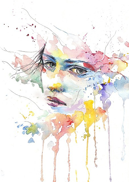 man people girl woman women girls thoughtful thoughtfulness exhilarating eyes view person watercolor figure drawing watercolor drawing traditional art traditional drawing art abstract portrait abstract portrait sorrow feeling emotion emotions emotional women women women watercolor watercolor watercolor watercolor watercolor
