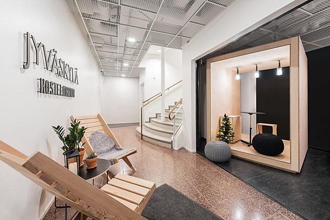 From Bank to Modern Hostel in Jyväskylä, Finland