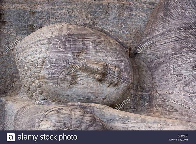 Buddha statue, Gal Vihara, Polonnaruwa, Sri Lanka - Stock Image