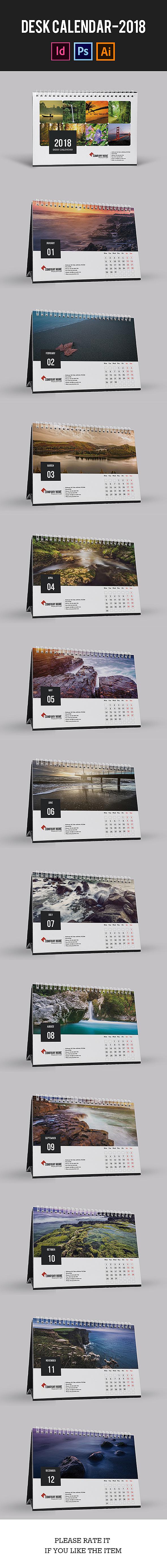Desk Calendar for 2018 | Updated